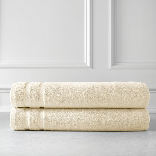 Premium Quality Oversized 100% Combed Cotton Bath Sheet (Set of 2) by SouthShore Fine Linens